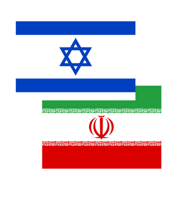 526px-Israel-iran_flages