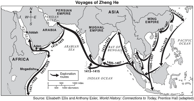 ZHENG HE 1ST VOYAGE - 1405-1407 Voyages-of-zheng-he-map-06-04