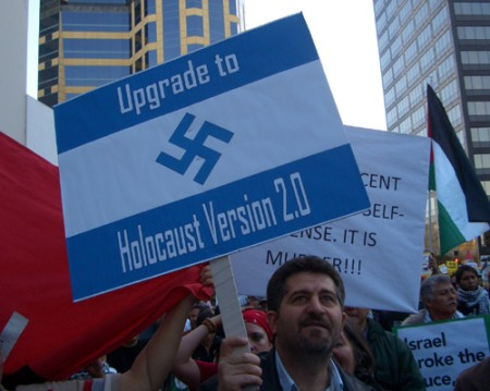 Anti-israel Demonstration sign