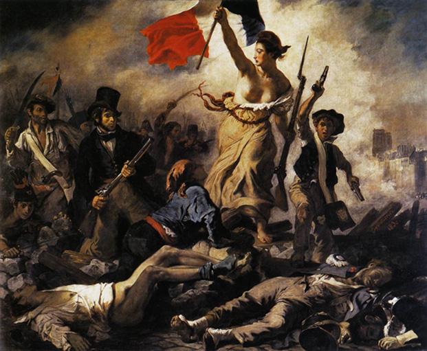 France/stop a la burqa culturelle: &;la liberte guidant le peuple